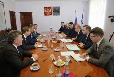 Встреча губернатора с представителями «Газпрома»